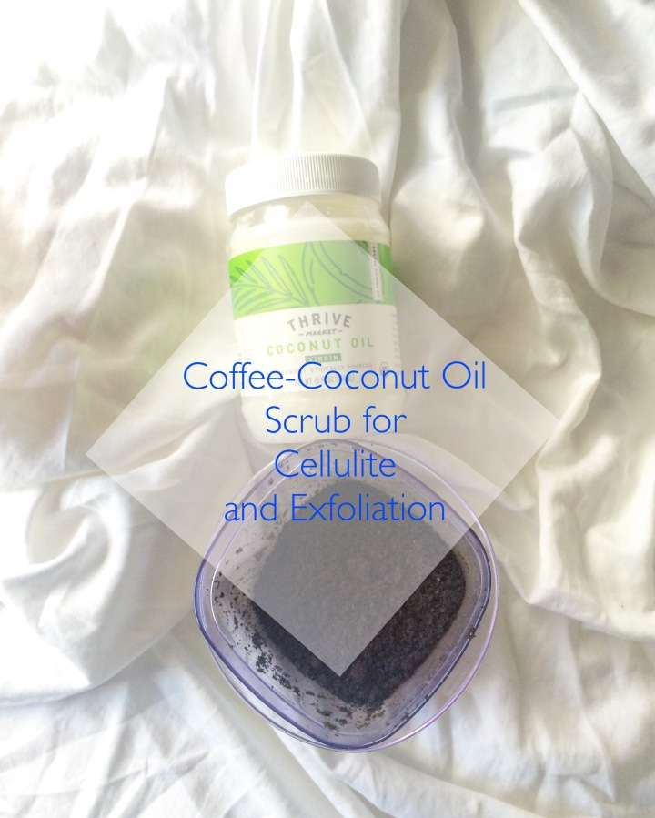 Coffee-Coconut Oil Scrub for Cellulite and Exfoliation