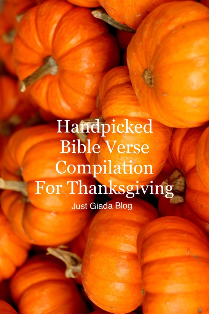 Handpicked Bible Verse Compilation for Thanksgiving